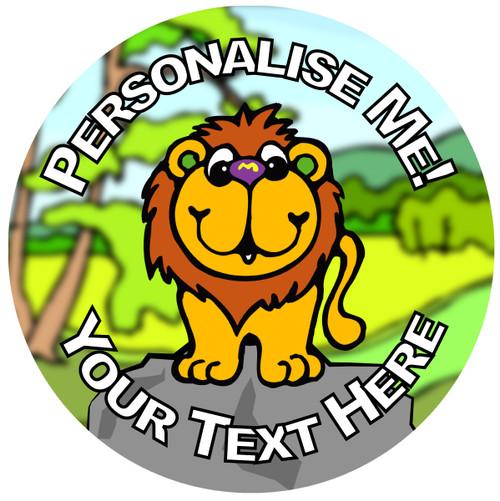 Sticker Stocker - 144 Personalised Lion Rock 30mm Reward Stickers for School Teachers, Parents and Nursery