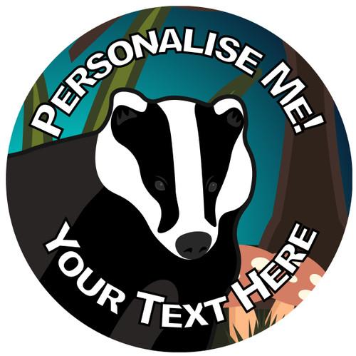 Sticker Stocker - 144 Personalised Badger 30mm Reward Stickers for School Teachers, Parents and Nursery