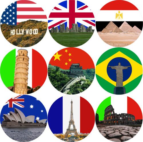 Sticker Stocker - 144 World Landmarks 30mm Stickers for School Teachers, Parents and Nursery