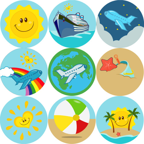 Sticker Stocker - 144 Happy Holiday 30mm Stickers for School Teachers, Parents and Nursery