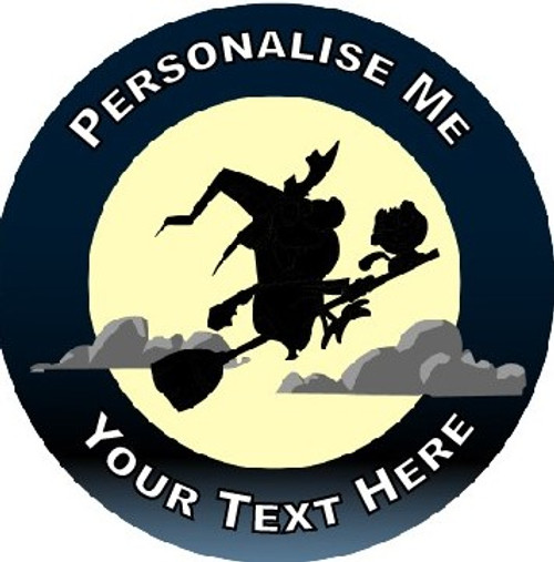Sticker Stocker - 144 Personalised Witch Silhouettes 30mm Reward Stickers for School Teachers, Parents and Nursery