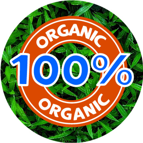 144 100% Organic themed 30mm Stickers Glossy Recycle Packaging Labels