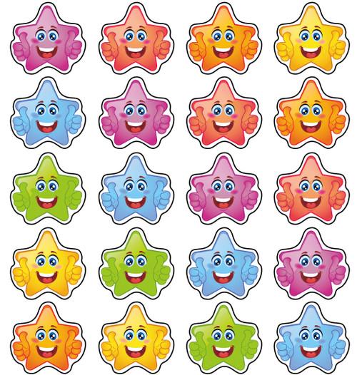 Sticker Stocker - 192 Star Smiles 20mm Children's Reward Stickers for School Teachers or Nurses