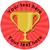 Sticker Stocker 144 Trophy Personalised 30 mm Reward Stickers for School Teachers, Parents and Nursery
