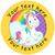 Sticker Stocker 144 Personalised Rainbow Unicorns 30mm Reward Stickers for School Teachers, Parents and Nursery