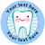 Sticker Stocker 144 Personalised Happy Teeth 30mm Reward Stickers for Dentist, Parents and Teachers