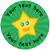 Sticker Stocker 144 Happy Star Personalised Green Background 30 mm Reward Stickers for School Teachers, Parents and Nursery