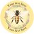 Sticker Stocker 144 Personalised Honey Bee 30mm Glossy Stickers Labels