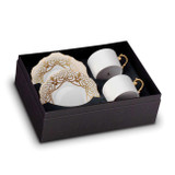 L'Objet Alencon Tea Cup And Saucer (Set of 2)