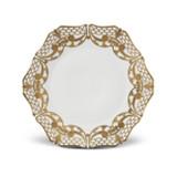 L'Objet Alencon Dessert Plate in Gold