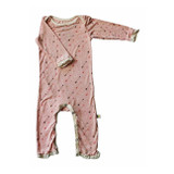 Bestaroo Long Sleeve Ruffle Arrow Coverall in Pink