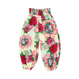 Paper Wings Roses & Doilies Shirred Pants