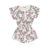Paper Wings Red Robins Drawstring Dress