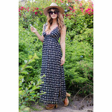 Kerry Cassill Sleeveless Maxi Dress in Black Ash