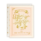 First Snow Stationary I Love You To The Moon & Back Card