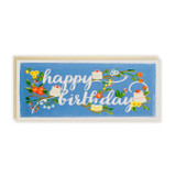 First Snow Happy Birthday Card Branches & Cake