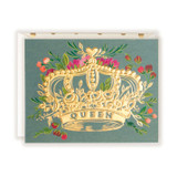 First Snow Stationery Queen Foil Crown With Florals Card
