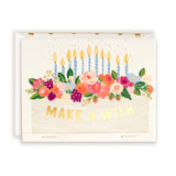 First Snow Stationery Make a Wish, It's Your Birthday Frosted Cake Card