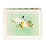 First Snow Stationery Stork Illustration Card in Mint