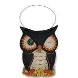 Bethany Lowe Owl Bucket Paper Mache