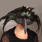 Bethany Lowe Raven Feather Death Mask