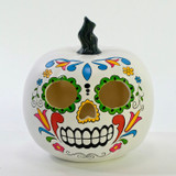Katherines Collection Carved Day of Dead Pumpkin