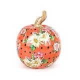 Mackenzie-Childs Orange Flower Market Pumpkin - Small