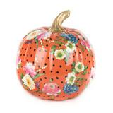 Mackenzie-Childs Orange Flower Market Pumpkin - Medium