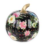 Mackenzie-Childs Black Flower Market Pumpkin - Medium