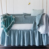 Linen Crib Dust Ruffle