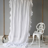 Linen Whisper Embellished Curtain