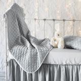 Bella Notte Silk Velvet Quilted Baby Blanket