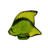 Lalique Lime Green Angel Fish Sculpture