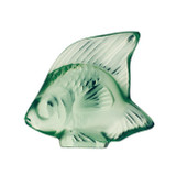 Lalique Light Green Angel Fish Sculpture