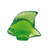Lalique Green Meadow Angel Fish Sculpture