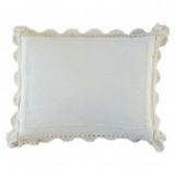 Linen with Crochet Lace Sham