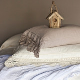 Linen Crochet Pillowcase
