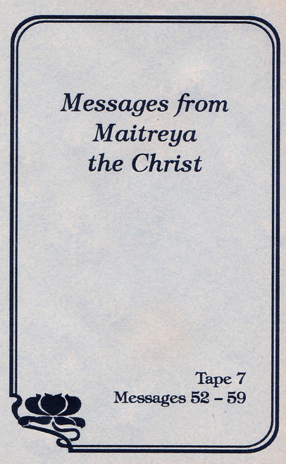 Messages from Maitreya the Christ - Messages 52-59 (Cassette Tape)