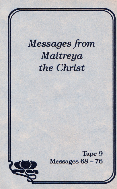 Messages from Maitreya the Christ - Messages 68-76 (Cassette Tape)