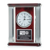 Columned Pianowood Mantle Clock
