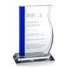 Cobalt Contour Optical Crystal Award