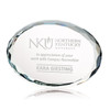 Optical Crystal Oval Paperweight