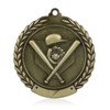 "Baseball 1 3/4""  Wreath Medal"