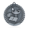 "Lamp of Knowledge 1 3/4""  Wreath Medal"