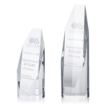 Octagon Tower Optical Crystal Award