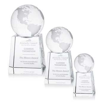 Globe Triumph Optical Crystal Award