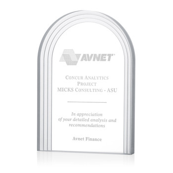 Frosted Arch Acrylic Award