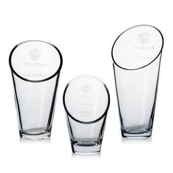 Elliptical Crystal Award Vase
