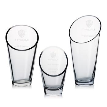 Elliptical Crystal Award Vase
