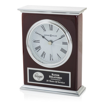 Silver Laurel Clock